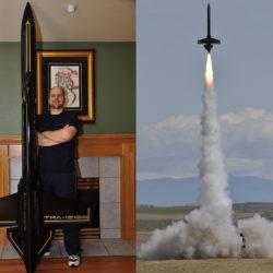 """Bryan Whitemarsh's futuristic 5.5"""" """"Avenger"""" going up on a K550!"""